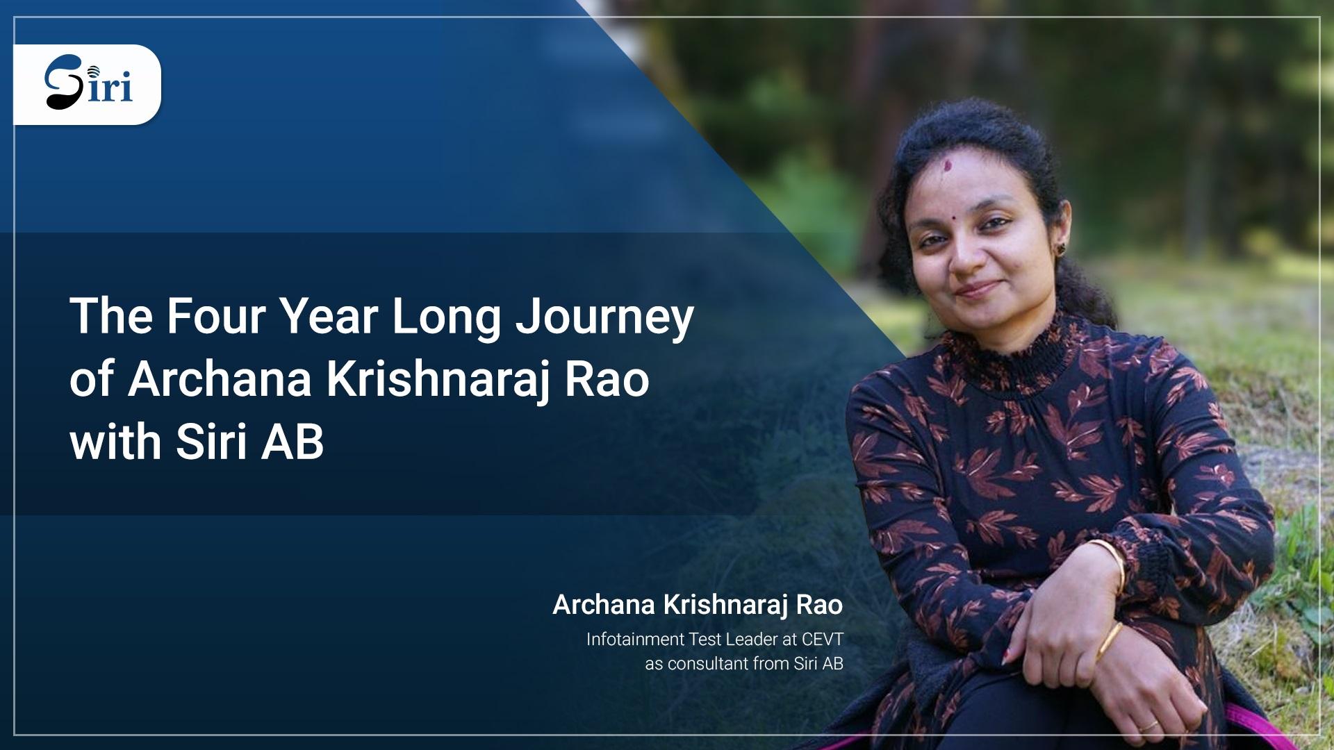 Archana Krishnaraj Rao Siri AB