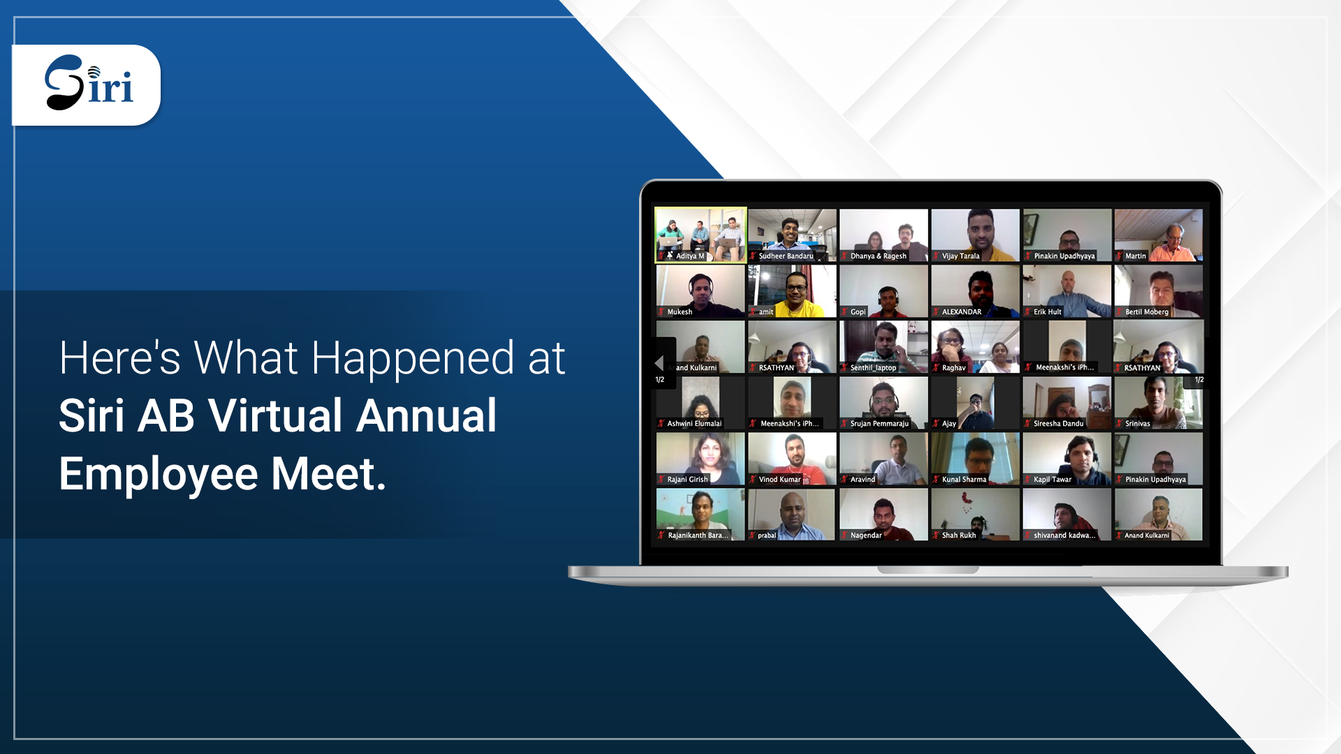 Here's What Happened at SiriAB Virtual Annual Employee Meet 2021