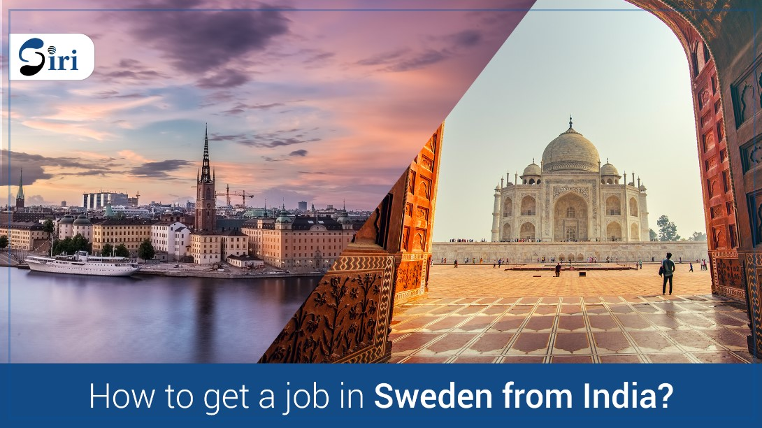 How to get a job in Sweden from india